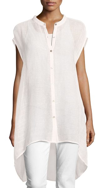 EILEEN FISHER Organic Linen-Blend Mesh Tunic - Eileen Fisher linen-blend mesh tunic, available in your...