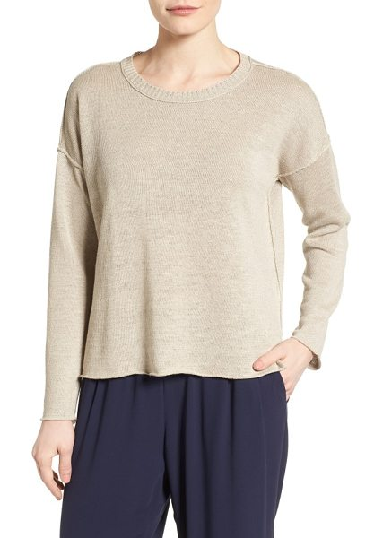 EILEEN FISHER organic linen sweater - This spring sweater wins in every way: fantastic colors,...