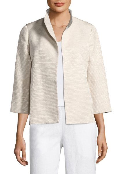 EILEEN FISHER ottoman jacket - Richly textured ottoman ribbing structures jacket....