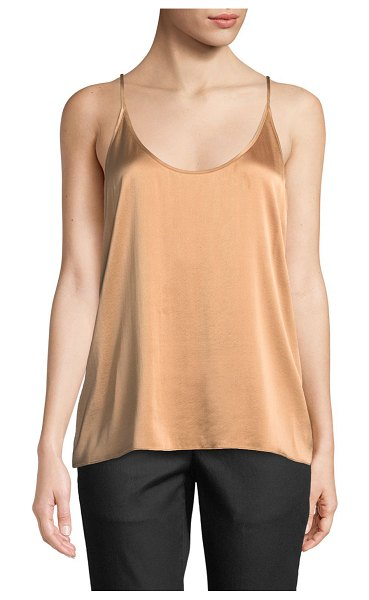 Eileen Fisher Silk Charmeuse Cami Top in amber - Eileen Fisher fluid cami in silk charmeuse. Scoop...