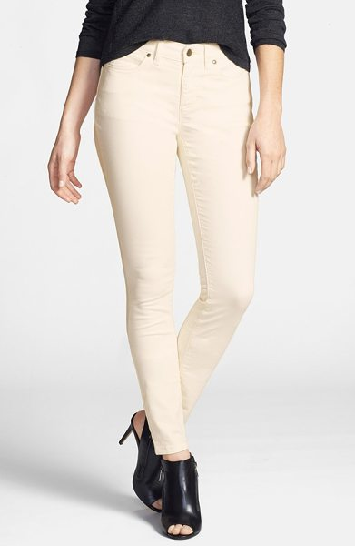 Eileen Fisher the fisher project garment dyed stretch skinny jeans in ecru - Organic-cotton skinny jeans, infused with stretch...
