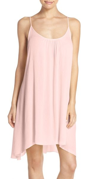 Elan cover-up slipdress in blush - An airy, lightweight slipdress designed with adjustable...