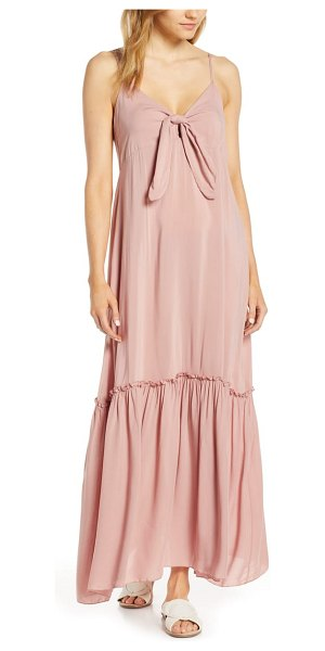 Elan maxi cover-up dress in pink