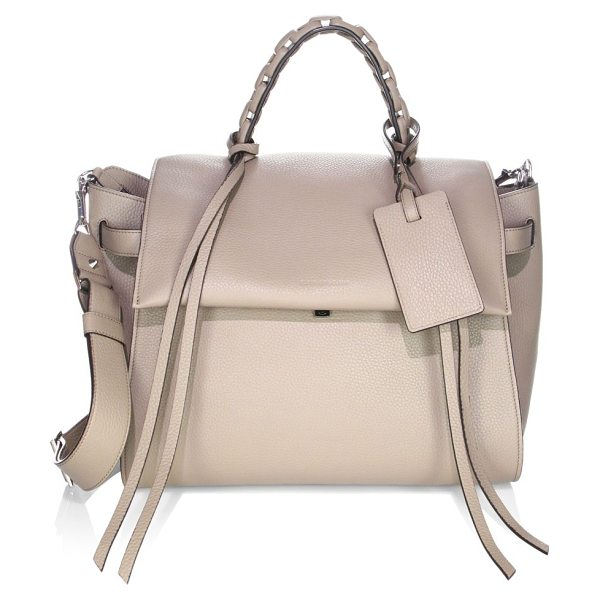 ELENA GHISELLINI angel travel leather satchel - Essential satchel featuring braided top handle. Top...
