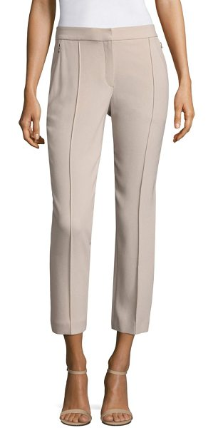 Elie Tahari front seamed cropped ankle pants in bamboo - Dressed up, cropped pants with flattering front seams....