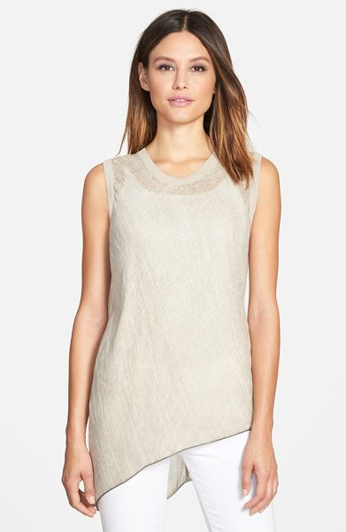 Elie Tahari savannah linen blouse in sand