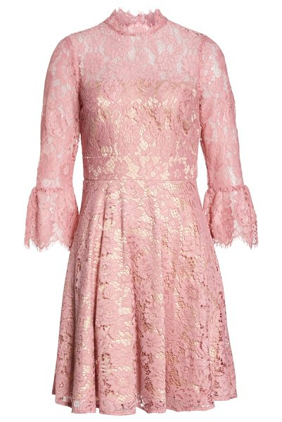 Eliza J Bell Sleeve Lace Fit   Flare Dress  d16e3668a