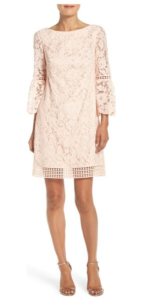 ELIZA J petite   bell sleeve lace shift dress - A versatile party dress in exquisite floral lace is...