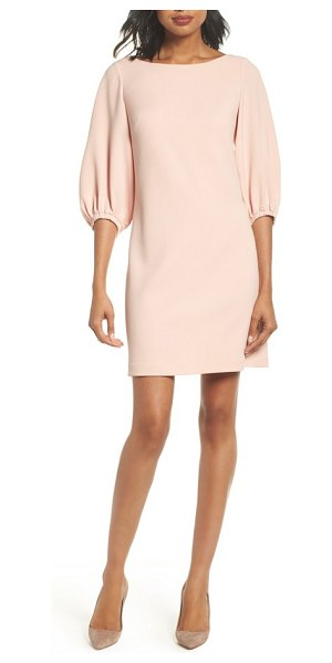 ELIZA J bloused sleeve shift dress - Bloused sleeves update an otherwise simply styled crepe...
