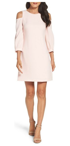 ELIZA J cold shoulder shift dress - Striking cutouts and a comfortable silhouette make this...