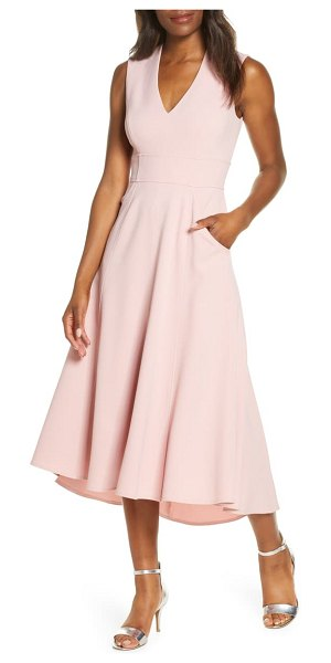 Eliza J high/low fit & flare dress in pink
