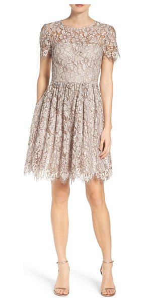 ELIZA J lace fit & flare dress - Get ready to twirl on the dance floor in this party...