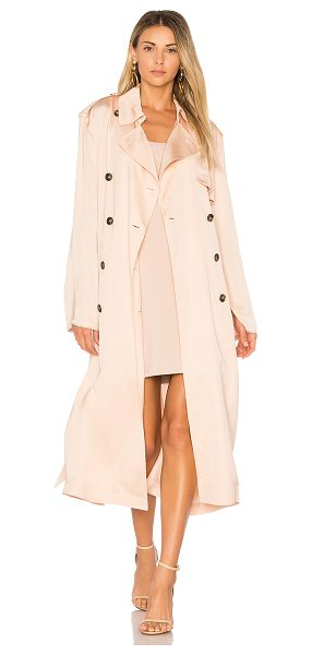 Elizabeth and James Aaron Oversized Trench Coat in blush - 100% viscose. Dry clean only. Button front closure....
