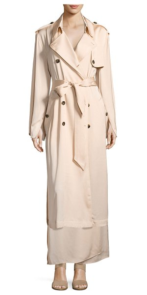 "Elizabeth and James Aaron Oversized Trench Coat in blush - Elizabeth and James ""Aaron"" oversized trench coat with..."