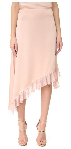 Elizabeth and James ailie asymmetric ruffle skirt in biscuit - Gauze ruffles trace the asymmetrical hem of this...