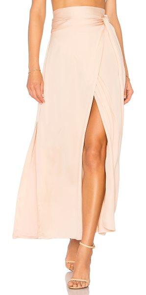 Elizabeth and James Almeria Wrap Skirt in blush - Self: 100% viscoseLining: 100% poly. Dry clean only....
