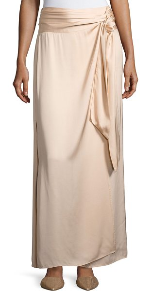 "Elizabeth and James Almeria Wrap-Tie Maxi Skirt W/ Slit in blush - Elizabeth and James ""Almeria"" satin skirt. Rise sits..."