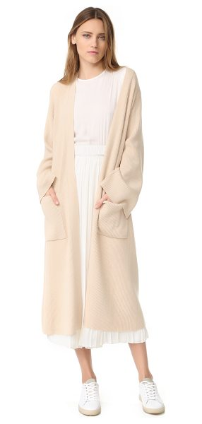 Elizabeth and James anya ribbed cardigan in oatmeal - A long, slouchy Elizabeth and James cardigan composed of...