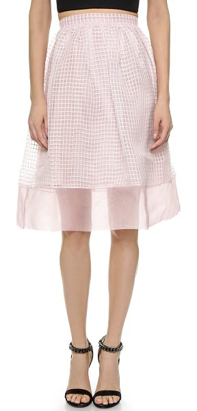 ELIZABETH AND JAMES Avenue skirt - Embroidered ribbons create a grid effect on this...
