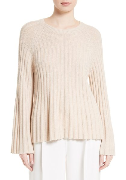 Elizabeth and James baker flare sleeve top in camel - A touch of cashmere brings luxurious softness to an...