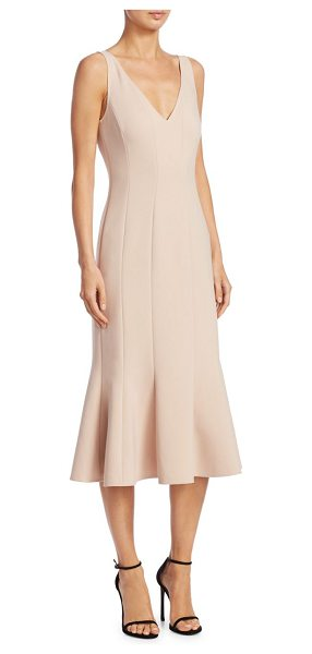 Elizabeth and James blane flared dress in blush - Chic seamed sleeveless dress featuring flared silhouette...