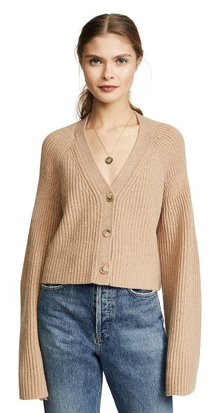 ELIZABETH AND JAMES cabot cardigan - Fabric: Shaker knit Cardigan style Cropped profile V neck...