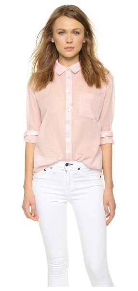 Elizabeth and James Carine shirt in coral/white - A striped Elizabeth and James button down with a slouchy...