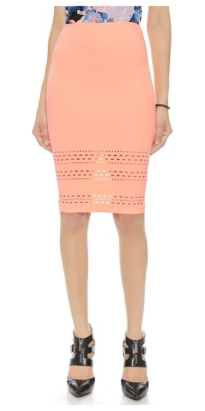 ELIZABETH AND JAMES Carrigan skirt - Laser cut detailing lends a contemporary touch to this...