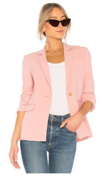 Elizabeth and James Carson Single Breasted Blazer in pink - Self: 83% acetate 17% polyLining: 100% poly. Dry clean...