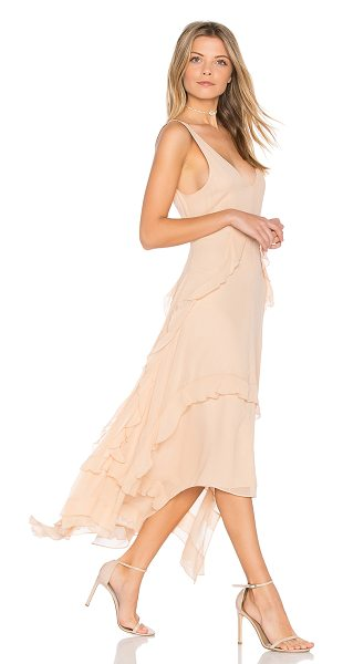 Elizabeth and James Catherine Gown in blush - Silk blend. Dry clean only. Fully lined. Ruffle trim....
