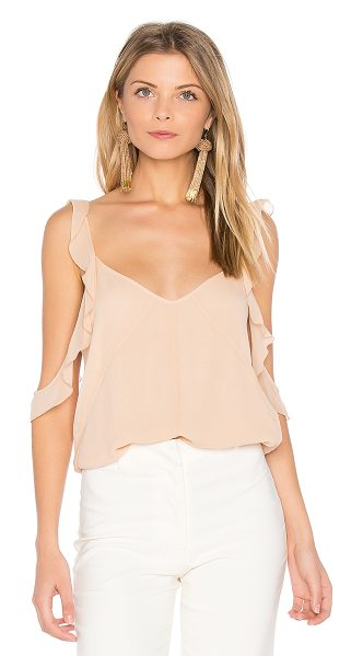 Elizabeth and James Cheryl Ruffle Tank in blush - Silk blend. Dry clean only. Ruffle trim. EAND-WS424....