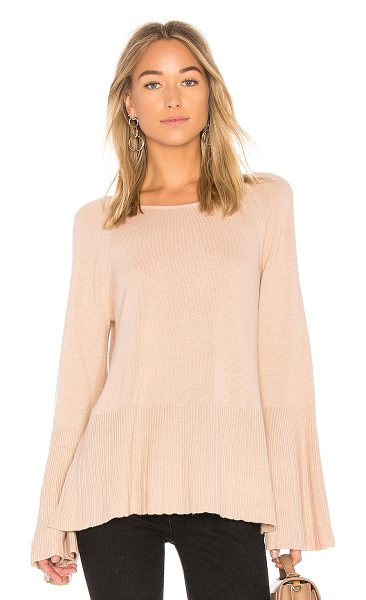 Elizabeth and James Clarette Bell Sleeve Sweater in blush - 44% wool 31% viscose 16% polyamide 9% cashmere. Dry...