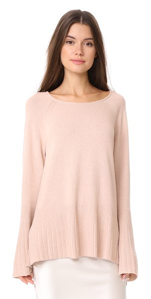 Elizabeth and James clarette wide sleeve sweater in biscuit - This relaxed Elizabeth and James sweater is trimmed at...