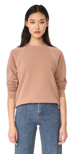 ELIZABETH AND JAMES crew neck sweatshirt - A faded wash lends a time-worn effect to this cozy...