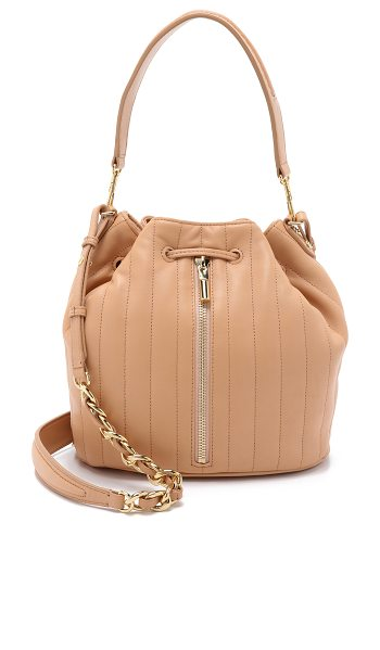 Elizabeth and James Cynnie bucket bag in sandalwood