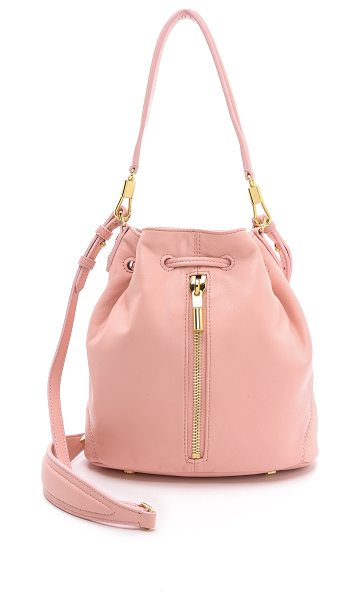 Elizabeth and James Cynnie mini bucket bag in pink beach - Supple lambskin composes a scaled down Elizabeth and...