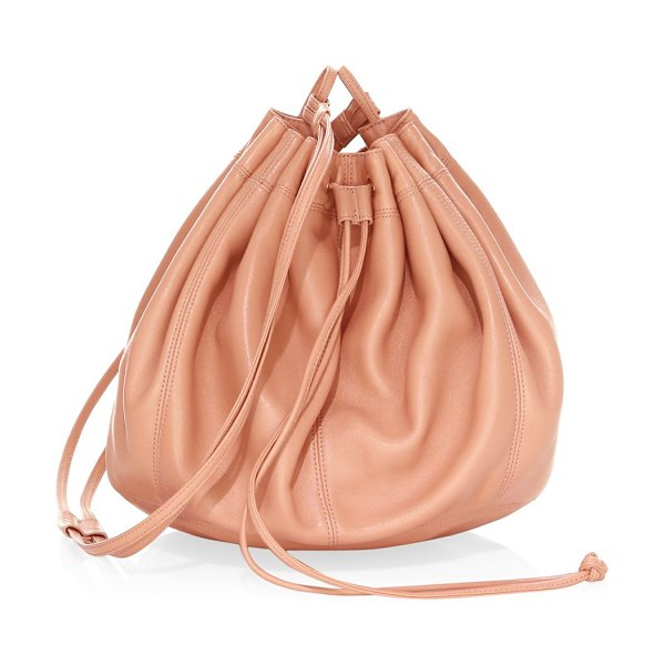 Elizabeth and James dex nappa bucket bag in nude - From the Saks It List: The Bucket Bag. Enduring bucket...