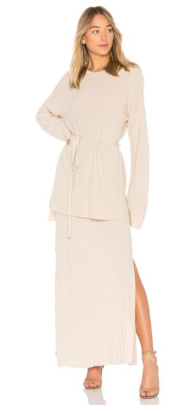 Elizabeth and James Gisella Rib Sweater in cream - 45% wool 30% viscose 15% polyamide 10% cashmere. Dry...