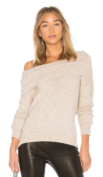 Elizabeth and James Gracelyn Sweater in cream - 51% alpaca 42% nylon 7% wool. Dry clean only. Draped...