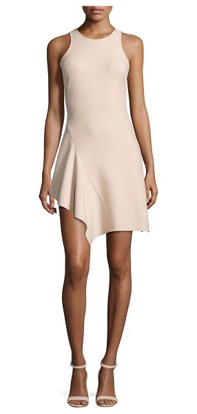 "ELIZABETH AND JAMES Hattie Asymmetric Racerback Ponte Dress - Elizabeth and James ""Hattie"" mini dress in ponte...."