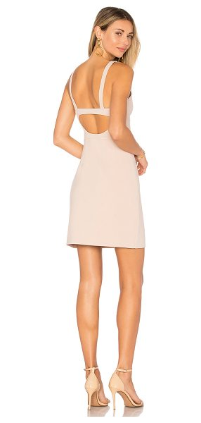 Elizabeth and James Huette Buckle Back Dress in blush - Self: 68% poly 27% rayon 5% spandexLining: 95% poly 5%...