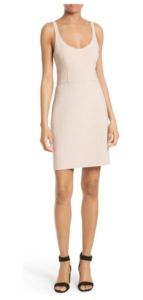 Elizabeth and James huette dress in biscuit - A strappy open back lends subtle athletic inspiraton to...