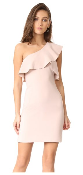 ELIZABETH AND JAMES jerard one shoulder ruffle dress - A laser-cut ruffle trims the one-shoulder neckline on...