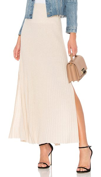 "Elizabeth and James Joelle Long Rib Skirt in cream - ""44% wool 32% viscose 17% polyamide 7% cashmere. Dry..."
