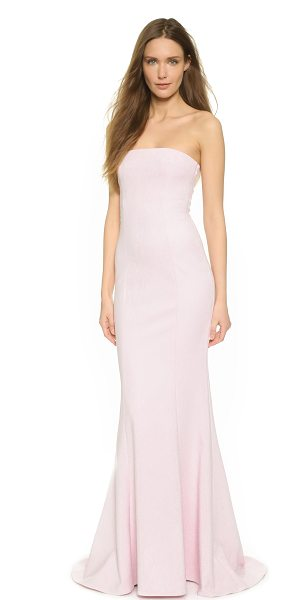 Elizabeth and James Kendra gown in pink wash - Precise seams create refined contour to this elegant...