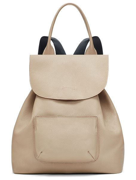 ELIZABETH AND JAMES Langley Leather Backpack - Elizabeth and James pebbled leather backpack. Rolled top...