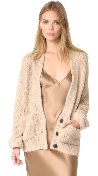 Elizabeth and James lars cardigan in oatmeal - A slouchy Elizabeth and James cardigan in a warm alpaca...