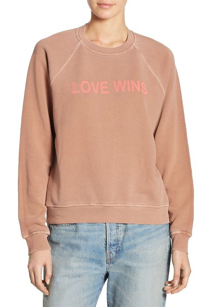 Elizabeth and James love wins vintage sweatshirt in fawn - Soft cotton sweatshirt with subtle graphic print....
