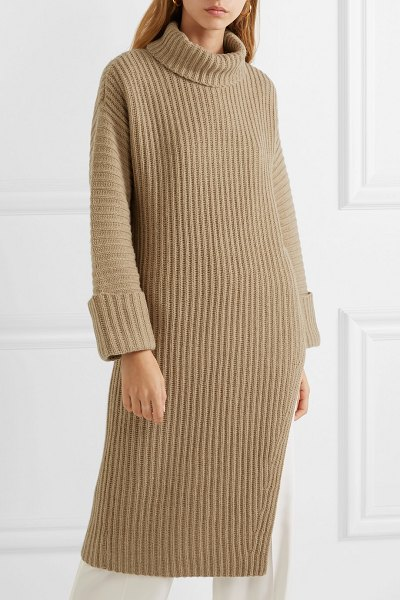 Elizabeth and James mae ribbed wool and cashmere-blend turtleneck sweater in camel - Nothing captures the ease of Elizabeth and James'...