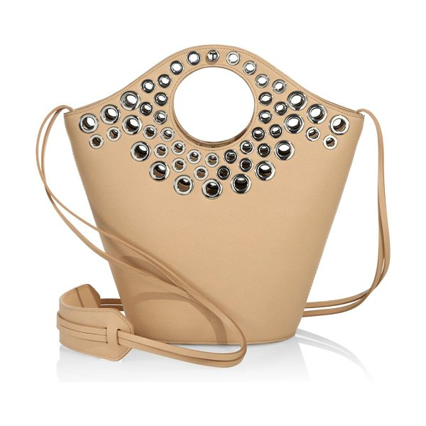 Elizabeth and James market shopper bag in natural - Snap shopper bag with metallic eyelets. Double top...